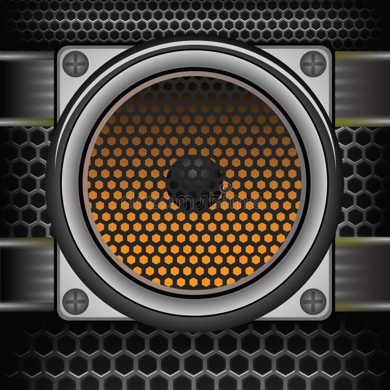 Orador musical ilustração stock