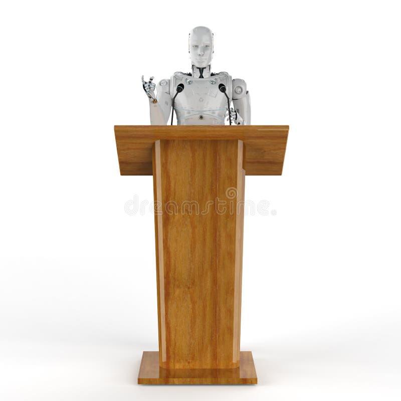 Orador público robótico ilustração royalty free