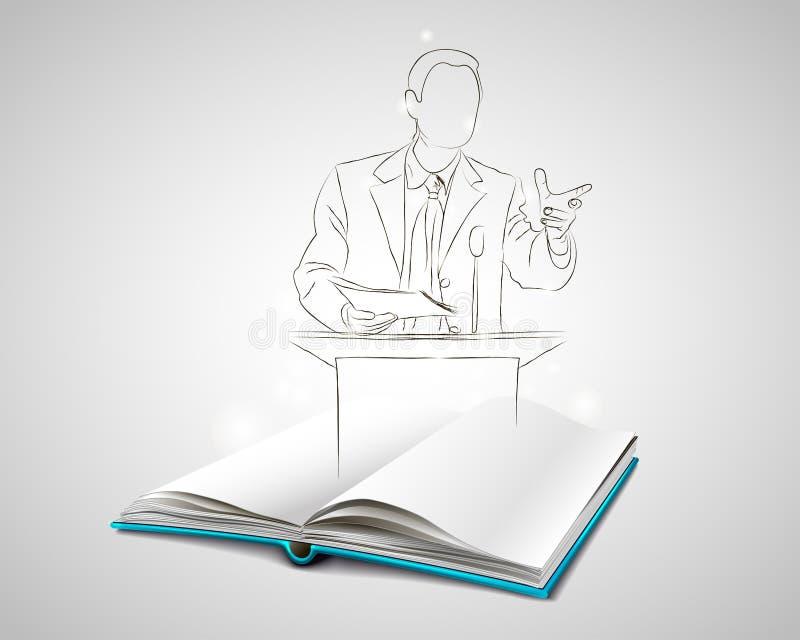 Orador pintado à mão foto de stock