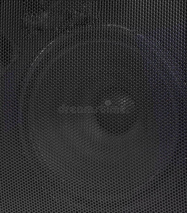 Orador poderoso do áudio do concerto da fase fotografia de stock