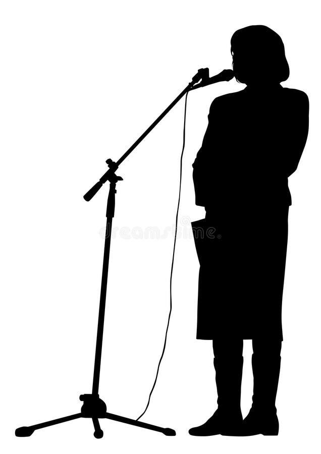 Orador um da mulher ilustração stock