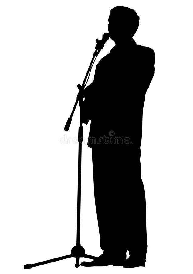 Orador um do homem ilustração stock