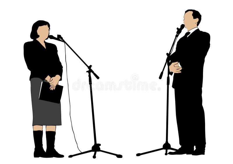 Orador um dos povos ilustração royalty free