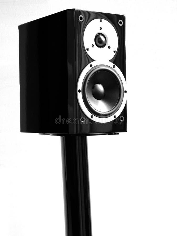 Oradores audio pretos fotos de stock