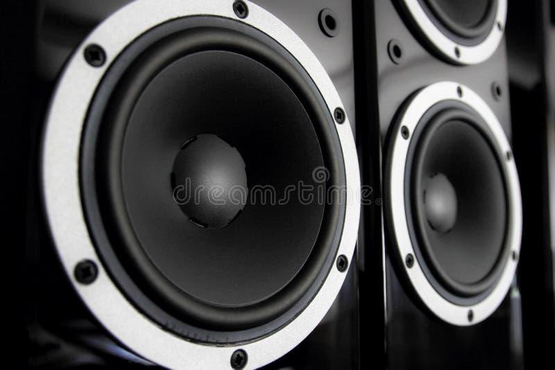 Oradores audio pretos imagem de stock royalty free