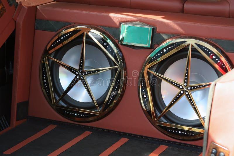 Oradores do carro imagens de stock royalty free