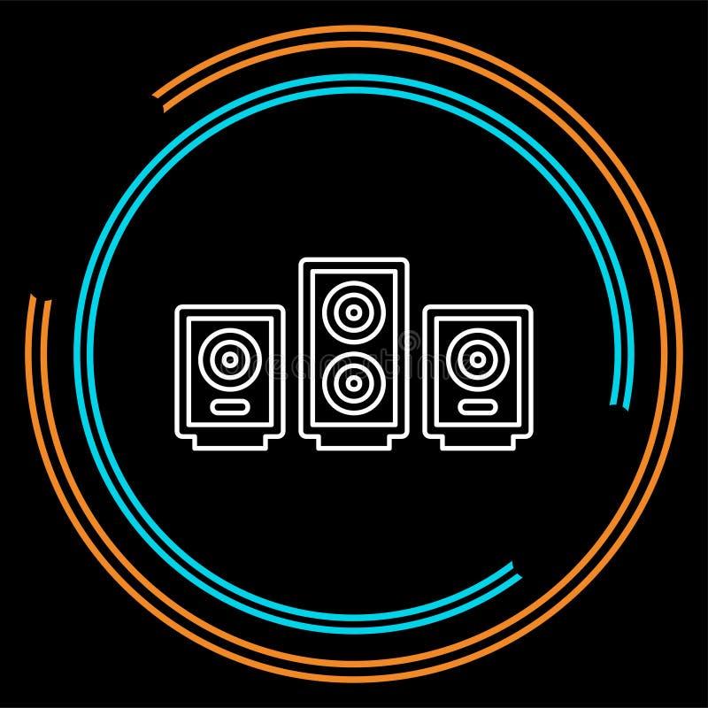 Oradores do sistema de som do vetor - ícone da música ilustração royalty free