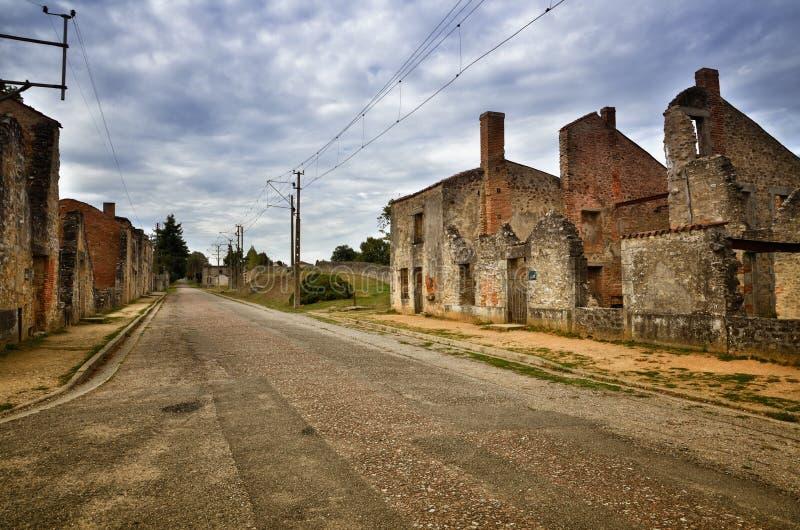 Oradour-Sr-Glane destroied von der deutschen Nazi und ist jetzt ein dauerhaftes Denkmal stockbild