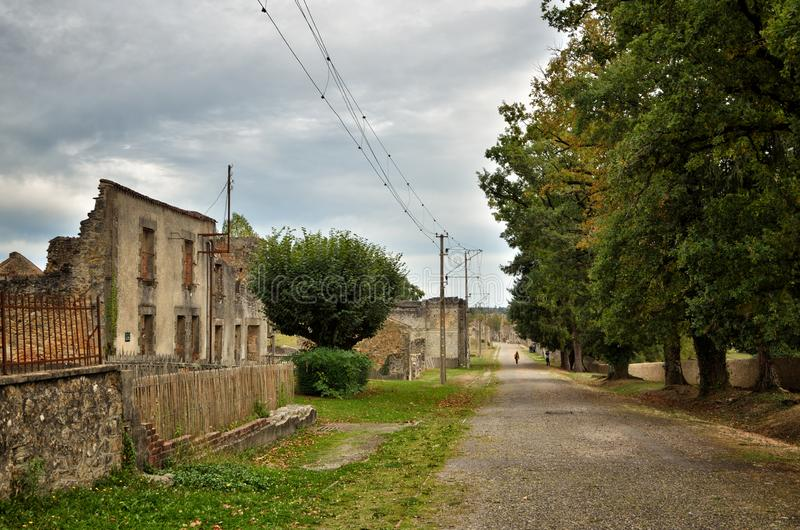 Oradour-Sr-Glane destroied von der deutschen Nazi und ist jetzt ein dauerhaftes Denkmal lizenzfreie stockbilder