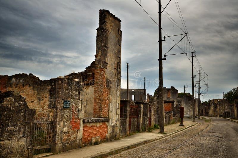 Oradour-Sr-Glane destroied von der deutschen Nazi und ist jetzt ein dauerhaftes Denkmal lizenzfreies stockfoto