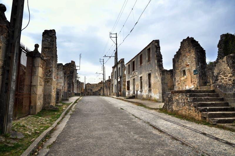 Oradour-Sr-Glane destroied von der deutschen Nazi und ist jetzt ein dauerhaftes Denkmal lizenzfreie stockfotografie