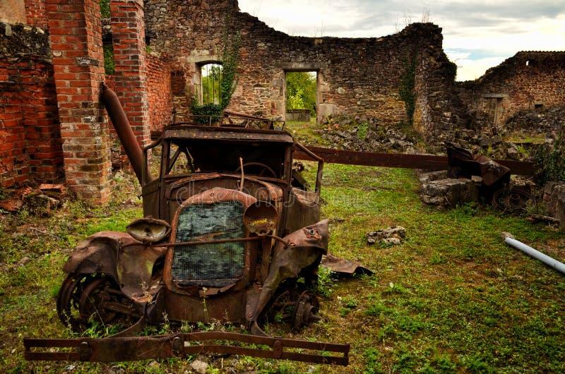 Oradour-Sr-Glane destroied von der deutschen Nazi und ist jetzt ein dauerhaftes Denkmal stockfotos