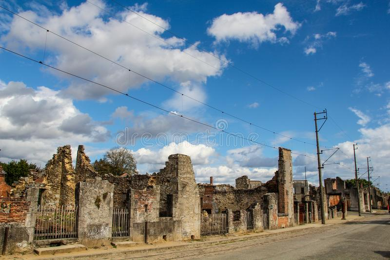 Oradour-Sur-Glane lizenzfreies stockbild