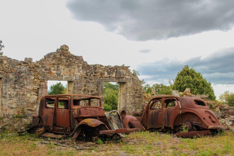 Oradour-Sur-Glane fotografering för bildbyråer