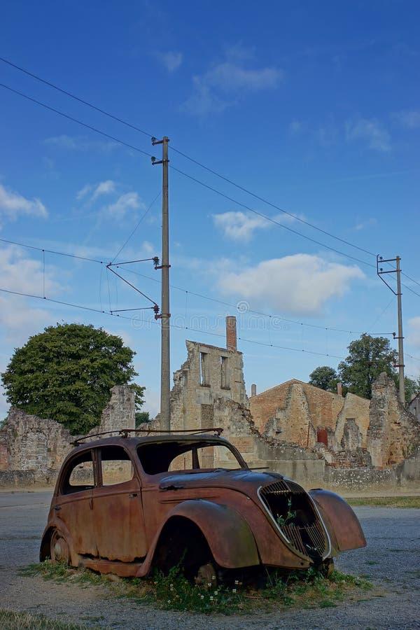 Oradour-sur-Glane, Dorfmärtyrer, Frankreich lizenzfreies stockfoto