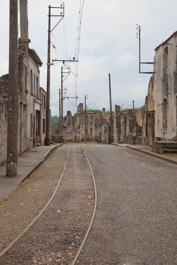 Oradour-sur-Glane Kriegdenkmal lizenzfreie stockfotografie