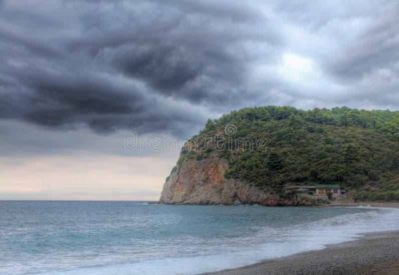Orage à la côte images stock
