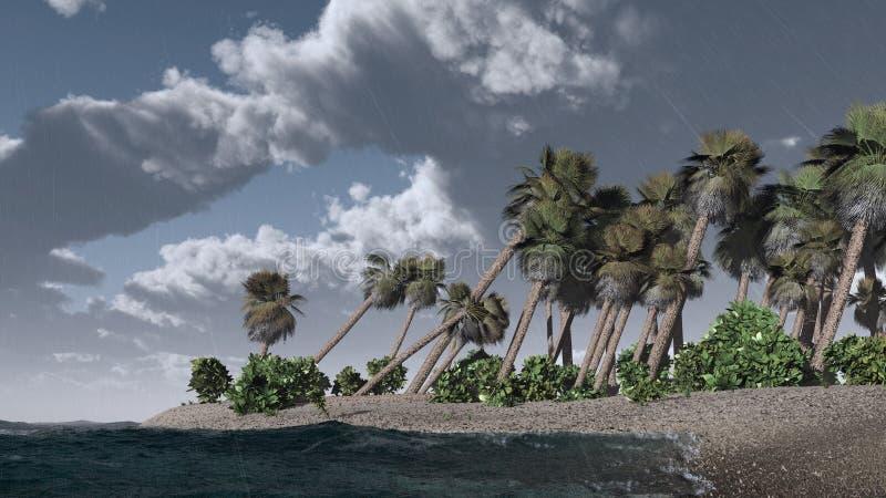 Orage sur l'île tropicale photographie stock