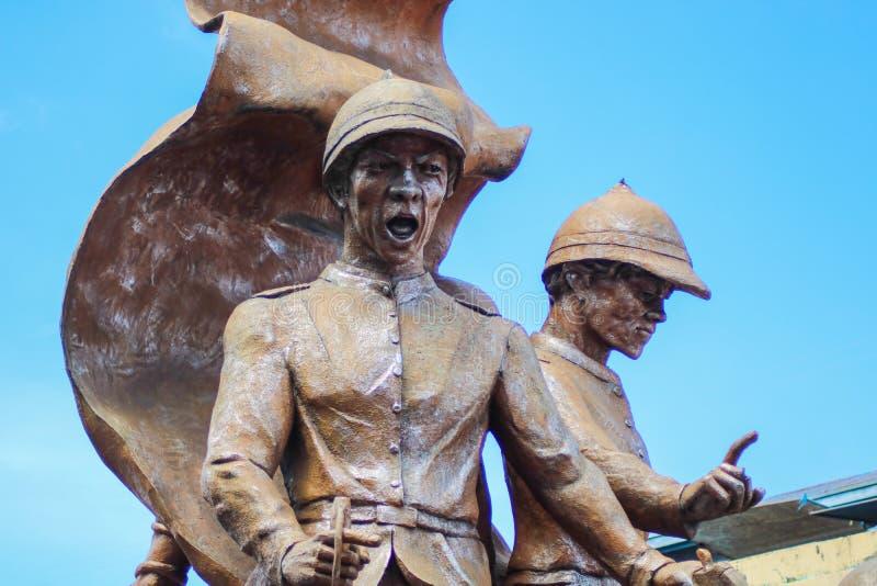 Oragon Monument at the Plaza de Nueva Caceres in Naga City. NAGA CITY, PHILIPPINES - CIRCA SEPTEMBER 2018: A portion of the Oragon Monument at the Plaza de Nueva royalty free stock photos