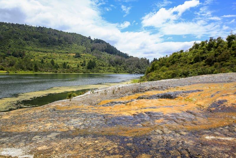 Orakei Korako geotermiczny park, Północna wyspa Nowa Zelandia obraz royalty free