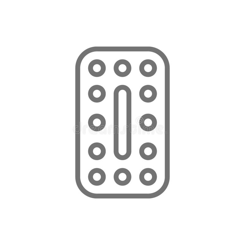 Oral contraceptives, hormonal pills, contraceptive tablets line icon. Vector oral contraceptives, hormonal pills, contraceptive tablets line icon. Symbol and vector illustration