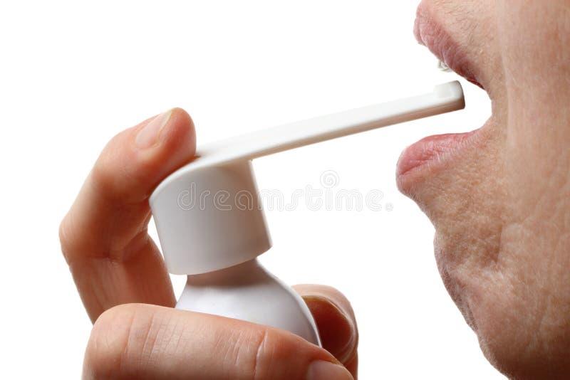 Oral spray stock photography