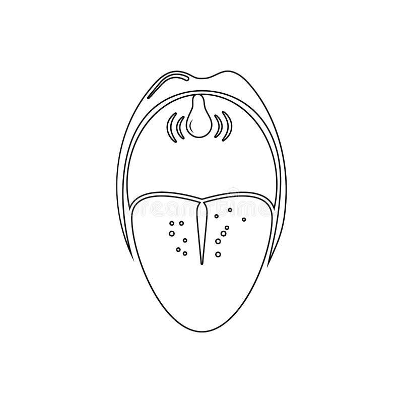 oralnego zagłębienia ikona Element Ludzkie części dla mobilnego pojęcia i sieci apps ikony Kontur, cienka kreskowa ikona dla stro ilustracja wektor