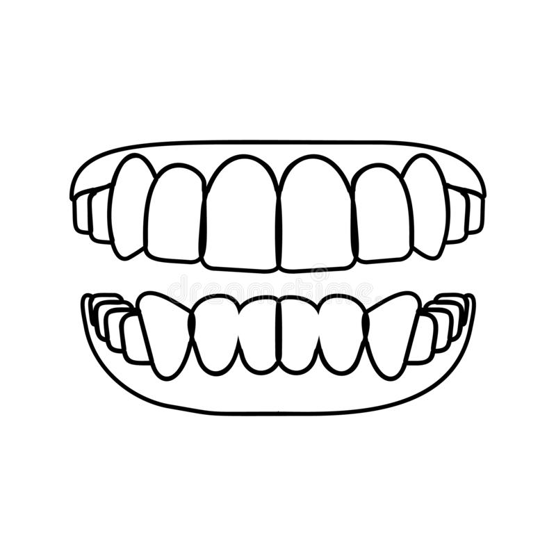 oralnego zagłębienia ikona Element Stomatologiczny dla mobilnego pojęcia i sieci apps ikony Cienka kreskowa ikona dla strona inte royalty ilustracja