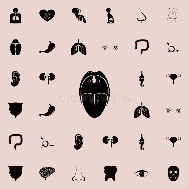 oralnego zagłębienia ikona Istota ludzka rozdziela ikony ogólnoludzkiego ustawiającego dla sieci i wiszącej ozdoby ilustracji