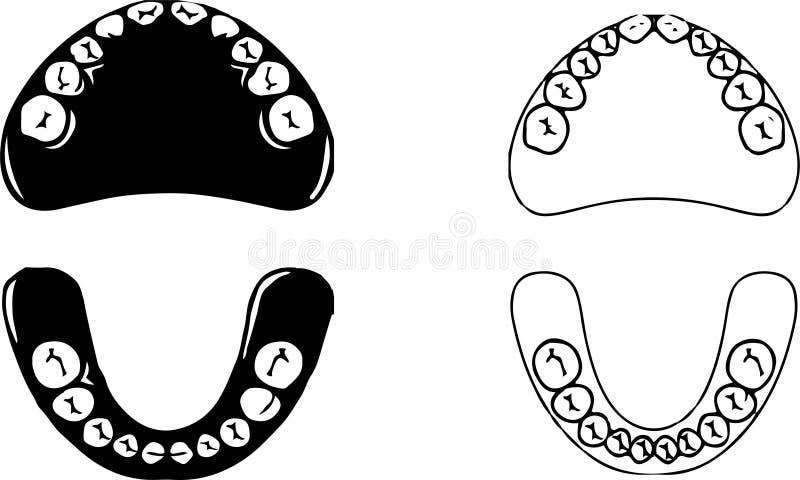 Oralnego zagłębienia ikona na białym tle royalty ilustracja