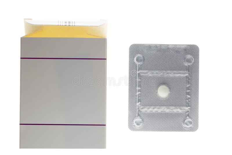 Oralny antykoncepcyjnej pigułki bąbla pudełko obraz stock