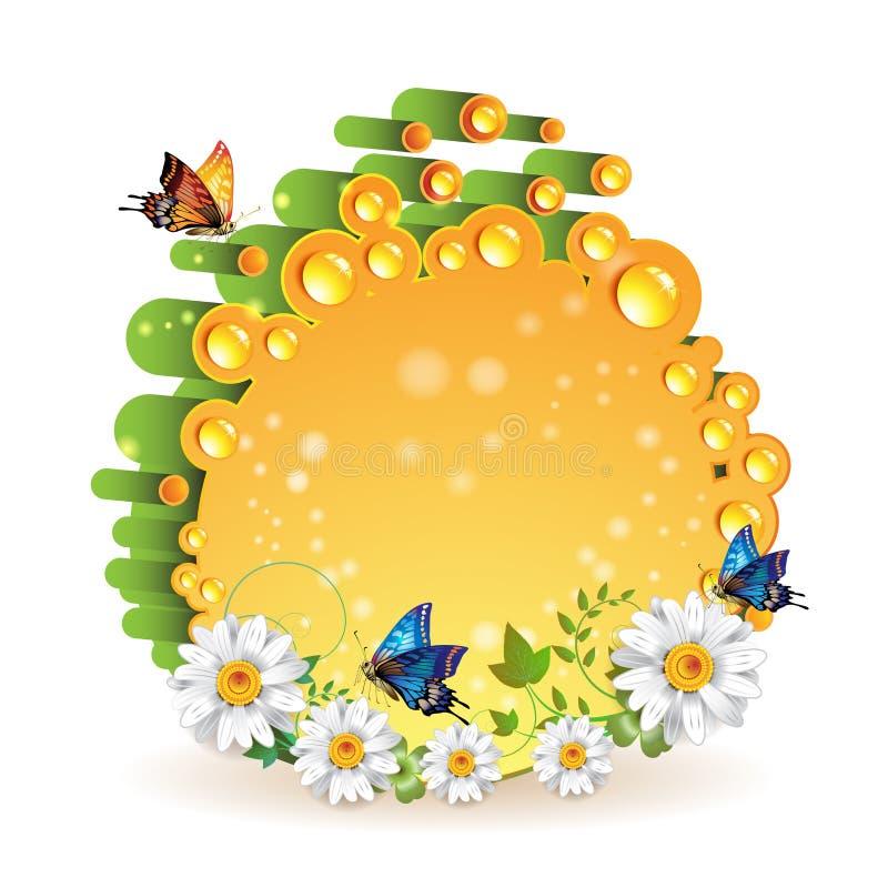 Orange 3d background vector illustration
