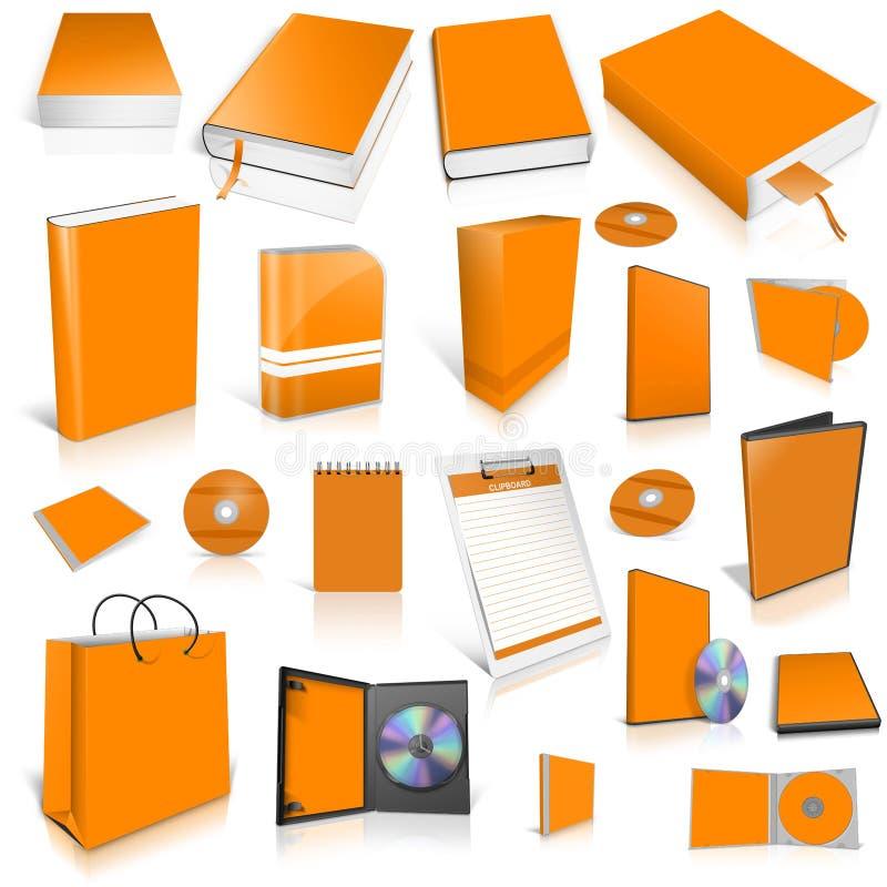 Download Orange 3d Blank Cover Collection Stock Illustration - Illustration: 27009318