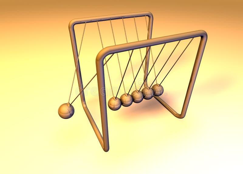 Orange 3d pendulum