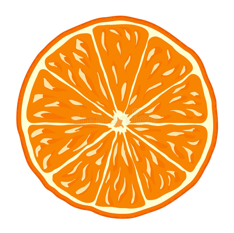 Orange illustration libre de droits