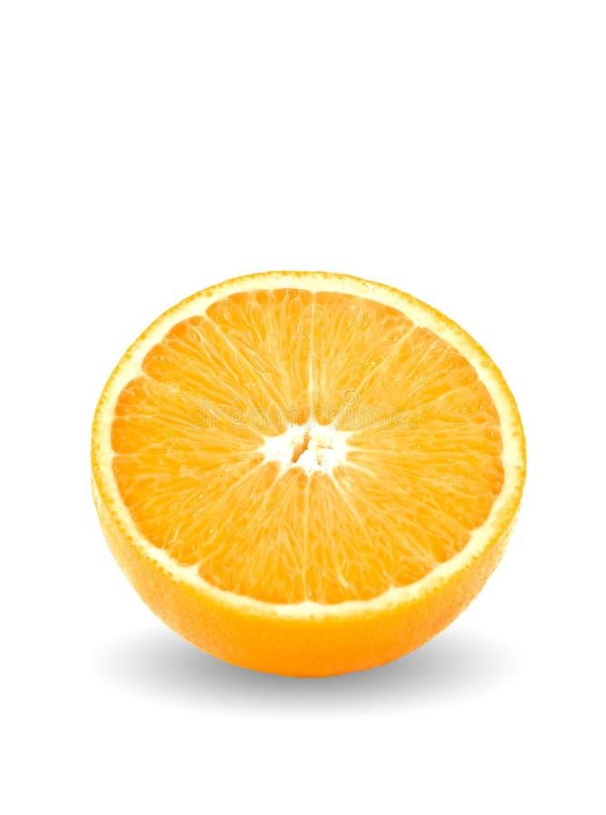 Orange. An orange on white isolated background royalty free stock image