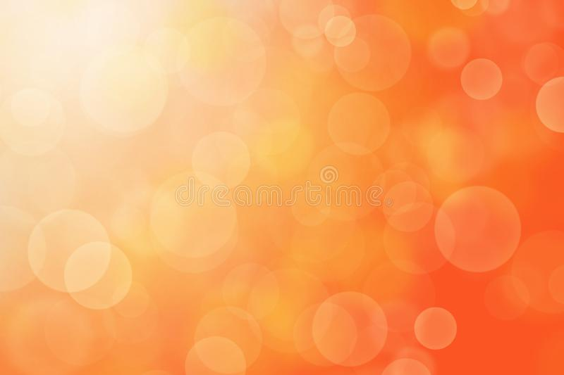 Orange abstract background blur with bokeh light effect. vector illustration