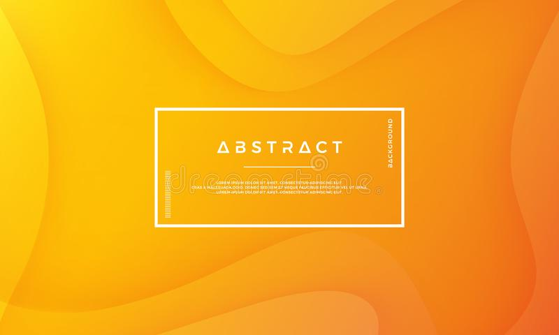 Orange abstract background is suitable for web, header, cover, brochure, web banner and others vector illustration