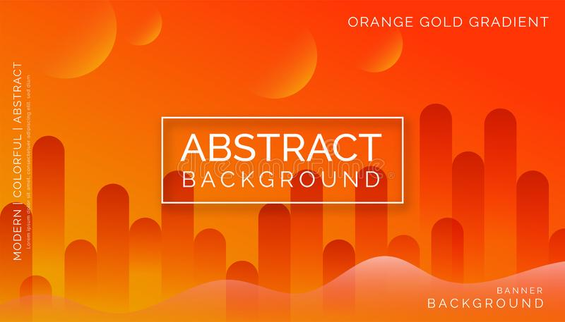 Orange Abstract Backgrounds, Modern Colorful Backgrounds, Dynamic Abstract Backgrounds royalty free stock image