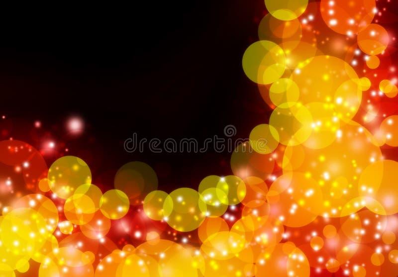 Orange abstract bokeh background vector illustration