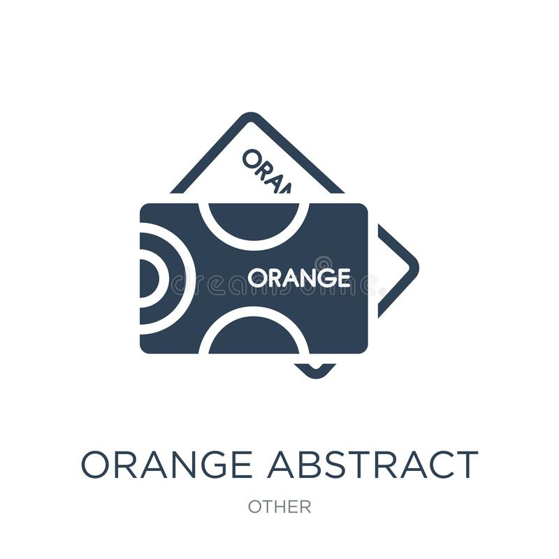 orange abstract business card icon in trendy design style. orange abstract business card icon isolated on white background. orange vector illustration