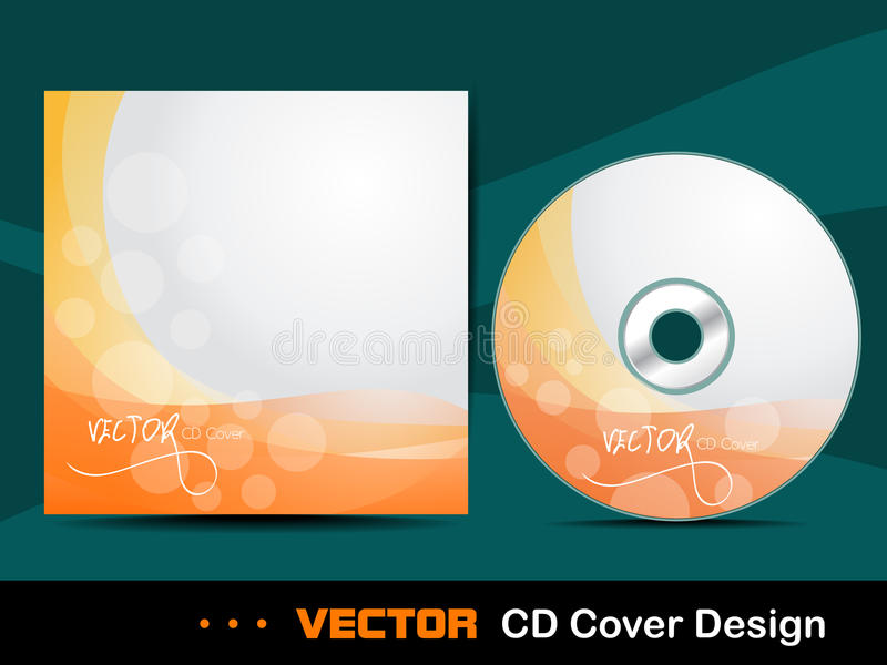 Download Orange abstract CD cover. stock vector. Image of illustration - 24488267