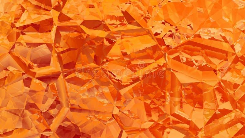 Orange Abstract Crystal Background Image Beautiful elegant Illustration graphic art design Background. Image royalty free illustration