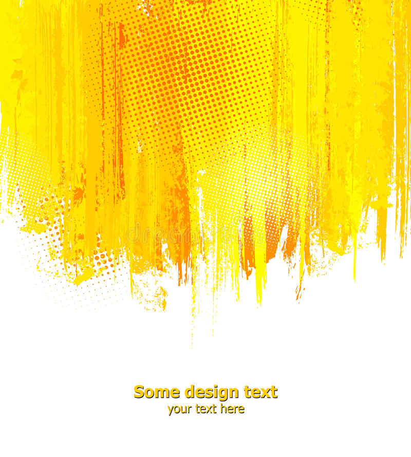 Orange abstract paint splashes illustration. Vector background with place for your text
