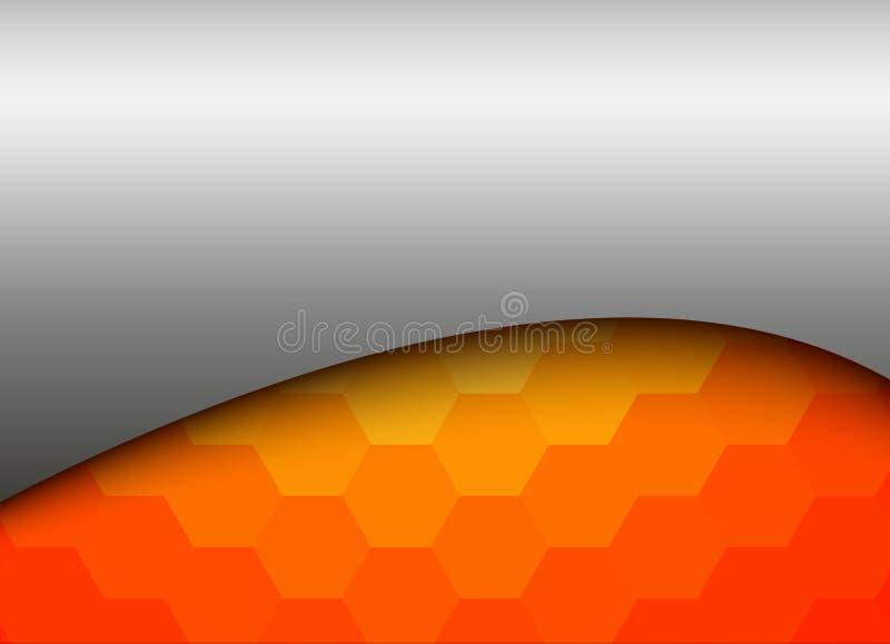 Orange abstraite d'argent de fond illustration libre de droits