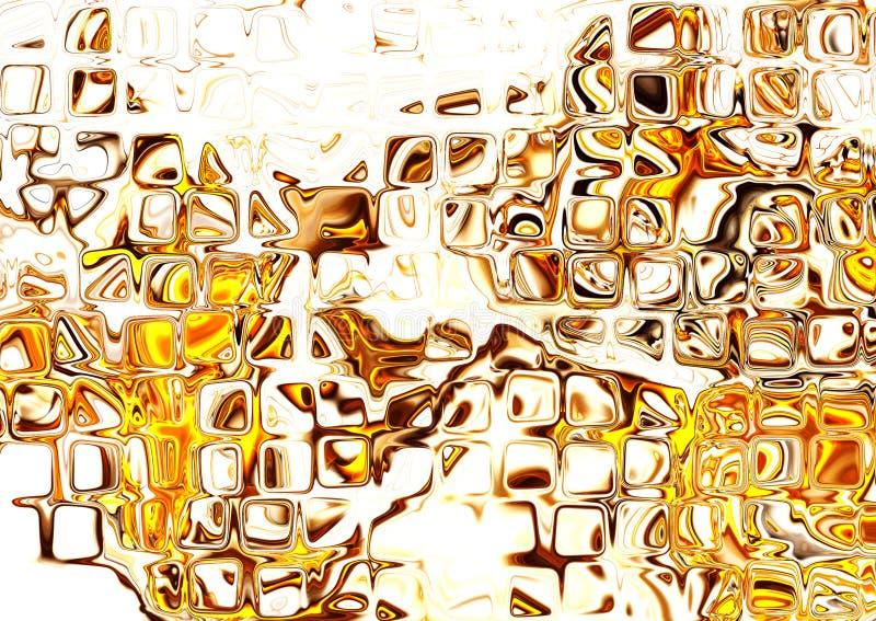 orange abstraite de fractale illustration libre de droits