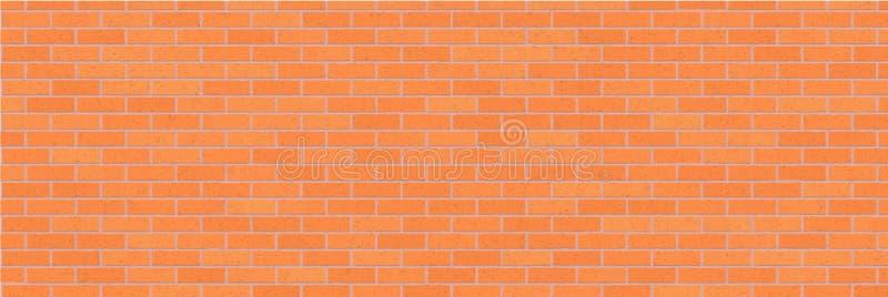 Orange abstrakt bakgrund för tegelstenvägg Texturera av tegelstenar Dekorativ sten Bred illustration för vektor stock illustrationer