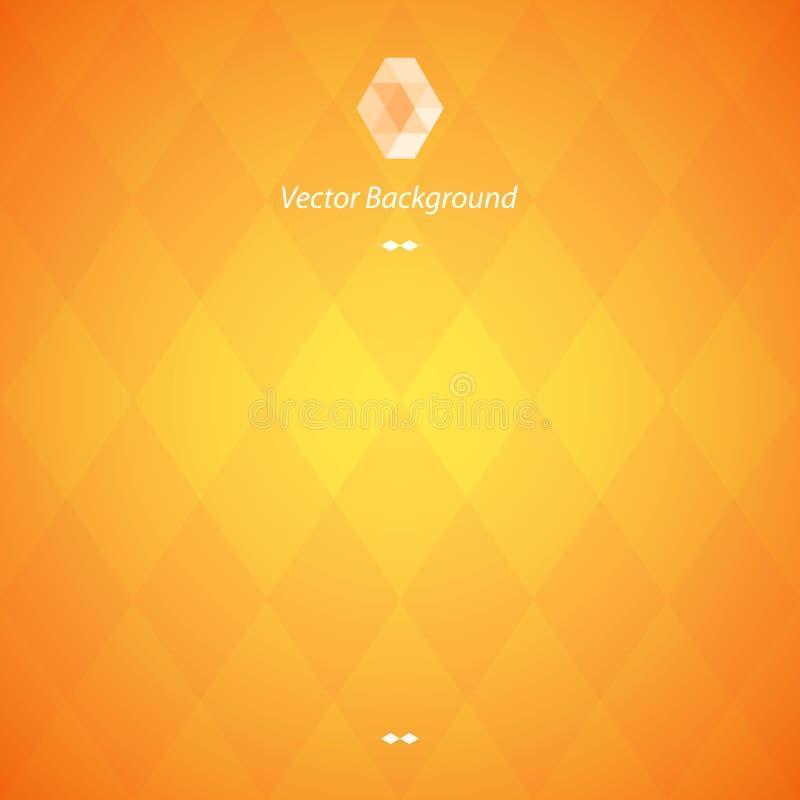 Orange abstrakter geometrischer Hintergrund lizenzfreies stockbild