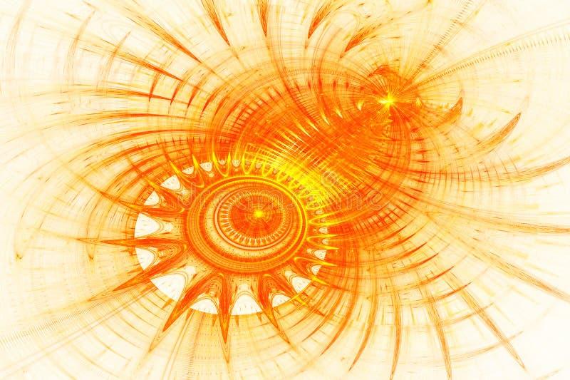 Orange abstrakter Hintergrund lizenzfreie abbildung