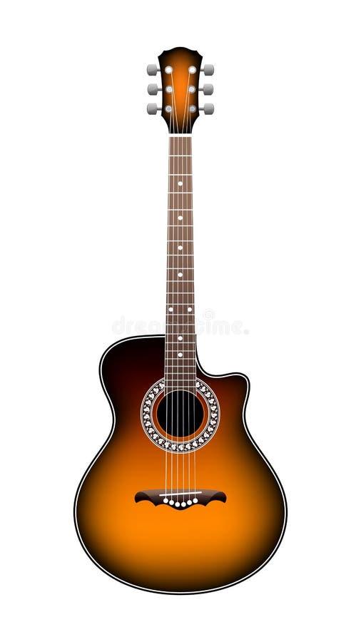 Free Orange Acoustic Guitar Stock Image - 7893111